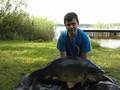 Jezioro Rogóżno, 20 czerwca 2014 roku, karp- 16,1kg