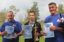 Trzej nagrodzeni pierwsze miejsce Norbert Skiba  w środku drugie � Przemysław Bodzianowski  z lewej trzecie � Krzysztof Spychała