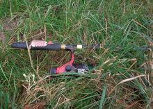 wędka z kołowrotkiem znaleziona przy kontrolowanym
