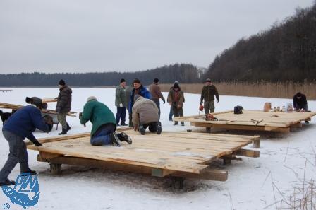 Budowa pomostu wędkarskiego