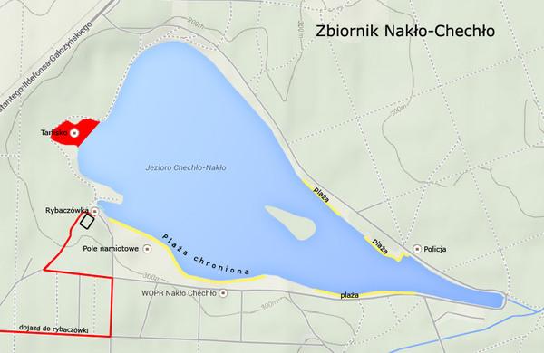 mapa zbiornika Nakło Chechło