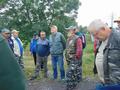 Uczestnicy Zawodów Sędziów Wędkarskich Rejonu VI Okręgu PZW Katowice, które odbyły się w Raciborzu na łowisku Nr 033 rzeka Odra w dniu 16 lipca 2016 r. na zbiórce przed zawodami.