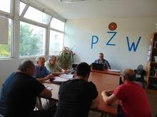 Uczestnicy posiedzenie Zarządu Koła PZW Nr 45 RacibórzMiasto