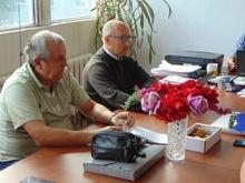 Członkowie Zarządu Koła PZW Nr 45 RacibórzMiasto w czasie posiedzenia