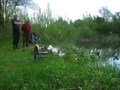 koledzy z Rzozowa na łowisku zastępczym