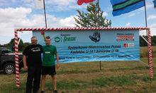 Szymon Matelski z trenerem tatą SłMatelskim