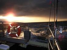 wschód słońca nad Bałtykiem
