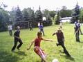 Towarzyski mecz piłkarski Wołów-Mietków , między uczestnikami Dnia Szkółek Wędkarskich w Ośrodku PZW Szczodre