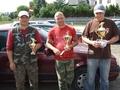 Pierwsza trójka zawodów: Albert, Norbert i Piotr. GRATULACJE.