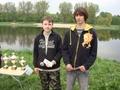 Dwaj juniorzy startujący na tych zawodach. Patryk i Jakub.