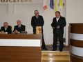 Wręczenie  Listu gratulacyjnego od ówczesnego zastępcy Burmistrza m.Łuków Jarosława Sycha