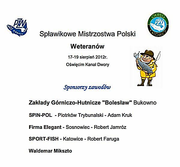 Wyniki Spławikowe Mistrzostwa Polski Weteranów -17-19 sierpień 2012r