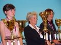 Trzy najlepsze zawodniczki mistrzostw w 7-boju: Niemka Jana Maisel, Austriaczka  Alena Zinner , Polka Magdalena Kuza - mistrzyni świata.