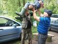 Mateusz otrzymał odznakę Młody Wzorowy Wędkarz.