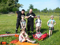 wręczenie znaczków oraz podziękowanie za przeprowadzenie szkolenia pierwszej pomocy