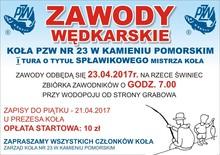 I tura o tytuł spławikowego Mistrza Koła PZW nr 23 z Kamienia Pomorskiego w 2017r