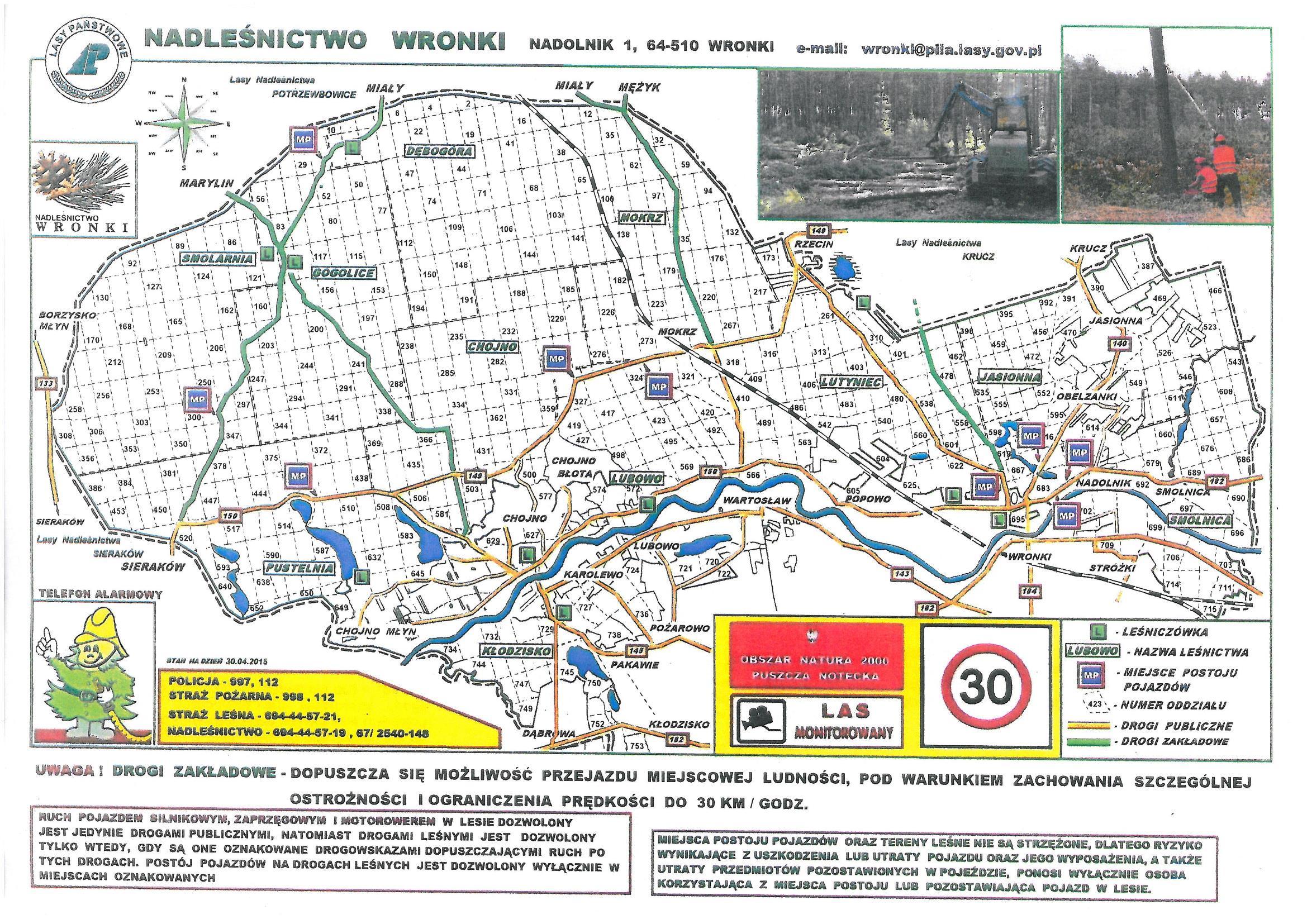 NLP Wronki 1 Mapa