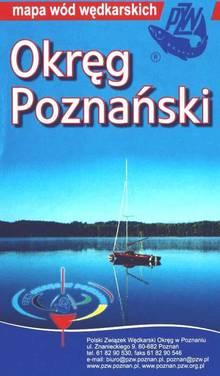 mapa wód Okręgu PZW w Poznaniu