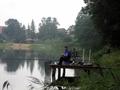na stanowisku- czas zacząć łowienie- na pierwszym planie D. Czaja