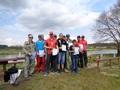 Nagrodzeni wędkarze koła PZW Pleszew i uczestnicy zawodów I tura Spławikowych Mistrzostw Koła w Pogorzelicy nad Wartą