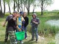 Ważenie ryb kadeta Bartka Wojtkowiaka - II miejce wsród kadetów 325 punktów
