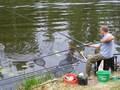 Troszkę większa ryba - lepiej użyć podbieraka
