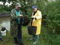 Waga wytarowana i w obecności zawodnika ważymy złowione ryby