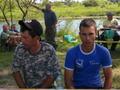 Zawody w Woli Uhruskiej nad Bugiem - Tato Krzysiek z synem Konradem, część naszej środowiskowej drużyny