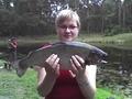 Wędkarz:  Marta Ryba: Pstrąg tęczowy Salmo gairdneri Waga: 1,90 kg Data: 01 lipca 2007 Miejsce: tajemnica ;-)