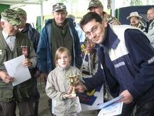 rozdanie nagród  Ola zwyciężyła w kategorii dzieci młodszych do 10 lat