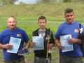 Trzej nagrodzeni: pierwsze miejsce Norbert Skiba ( w środku); drugie – Przemysław Bodzianowski ( z lewej); trzecie – Krzysztof Spychała.