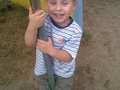Mój najmłodszy wnuczek Marcelek zapalony wędkarz, będzie łowił ryby z tatą i dziadkiem .