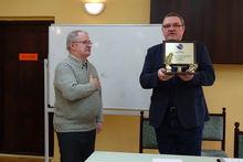 Tadeusz Heba nagroda za długoletnią pracę w zarządzie koła i na rzecz Polskiego związku Wędkarskiego