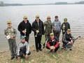 Klęczą od lewej : Mateusz Majcherczyk, Przemysław Wardach i Krystian Wróbel. Stoją od lewej : Eryk Nowak, Kamil Kowalik, Dariusz Wardach, Michał Pęczek, Bartłomiej Pęczek i Oliwier Krzykawski.