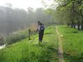 trzy razy w roku, koszenie trawy wokół zbiornika staw JABŁONOWSKICH