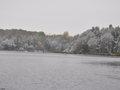 Październikowy śnieg nad jeziorem 28.10.2012 r.