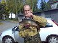Okoń 39 cm, waga 0,765 kg. Złowiony 18 października 2008 r.