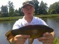 Mateusz Gancarz - lin 41 cm - 0,98 kg (złowiony 13.06.2015 r, łowisko Stawisko w Domacynie)