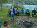Mistrzowie Świata przy grillu dzielą się z młodzieżą swoimi doświadczeniami z zawodów.