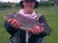 Wędkarz:  Wojtek Ryba: Kleń Leuciscus cephalus Długość: 48 cm Data: 18 maja 2008 Miejsce: Warta