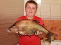 Leszcz o wadze 2,75 kg i długości 62 cm złowiony w Baryczy (Czeladź Wielka) w dniu 12.08.2014 r. około godziny 20:00. Przynęta - pszenica